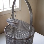 Basket made using jigs and fixtures